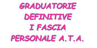 Graduatorie definitive I fascia A.T.A.